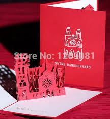 fashion big ben 3d pop up handmade paper greeting card for