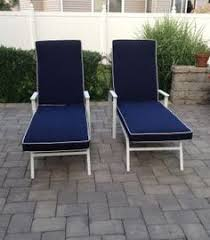 Outdoor Chaise Lounge Cushions Sunbrella Berenson Tuxedo Stripe Fabric Is Featured On These