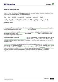 Adverb Worksheets 2nd Grade Worksheet Adverbs Filling The Gap En26adve L1 W Adverbs Fill