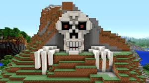 minecraft tutorial how to make a skeleton house scary halloween