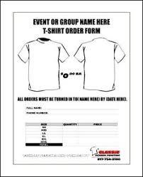 sample t shirt order form template microsoft word