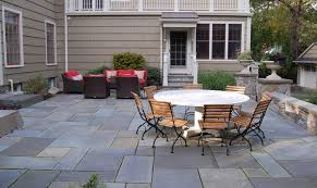 bluestone patio design is the best alternative for backyard