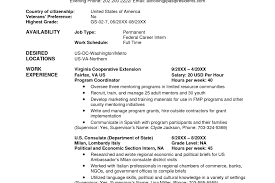 usajobs resume usajobs resume tutorial registered resume resume template