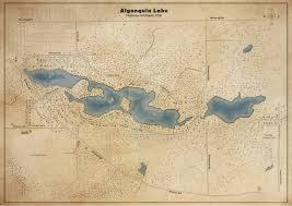 Algonquin Map Algonquin Lake Vintage Style Map By Nhatlink12 On Deviantart