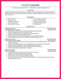 Receiving Clerk Resume Sample Stock Clerk Resume Hitecauto Us