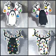 christmas penguins spinner cards craftypaws