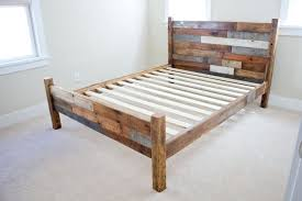 high twin bed frame distressed twin wooden spindle bed frame