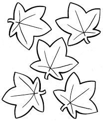 tree leaves coloring page coloring pages