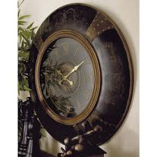Wooden Wall Clock 36 In Traditional Wood And Plastic Round Wall Clock 35017 The