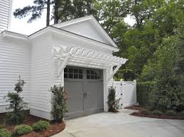 two car garage with white attached pergola garage pergola for