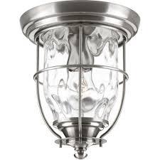 Outdoor Porch Ceiling Light Fixtures progress lighting beacon collection stainless steel outdoor