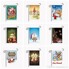 christmas garden flags 30 45cm outdoor hanging polyester garden