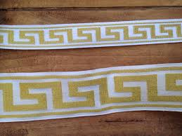 Greek Key Home Decor by Gold Greek Key Jacquard Embroidered Wide Trim Drapery Trim Home
