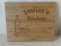 personalized engraved cutting board crafted personalized bamboo cutting board custom logo