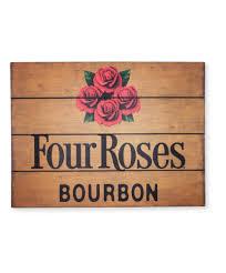 bourbon sign roses wood pub sign