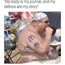 Fat Memes - my body is my journal fat meme