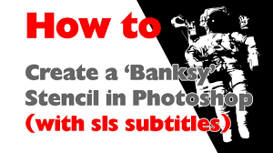 photoshop tutorial how to create a u0027banksy u0027 style stencil from a