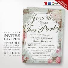 free printable bridal shower tea party invitations birthday tea party invitation template vintage rose tea