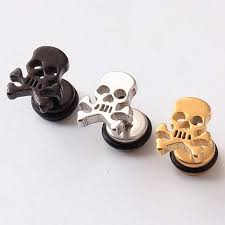 stainless steel stud earrings aliexpress buy 2 pieces skull stainless steel stud