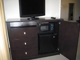 espresso tv stand with drawers and mini fridge plus microwave