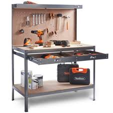 workbench with pegboard and light buy vonhaus work bench pegboard heavy duty reinforced steel from our