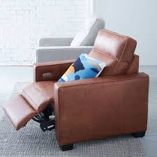henry leather power recliner chair west elm