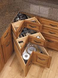 Kitchen Corner Cabinet Storage Genius Because I Lazy Susan S Storage Corner Drawers By