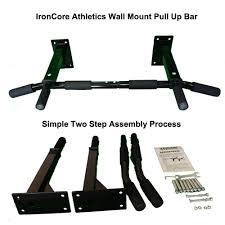 wall mounted chinning bar amazon com iron core athletics wall mount pull up bar heavy