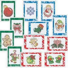 craftways christmas celebration greeting cards counted cross stitch
