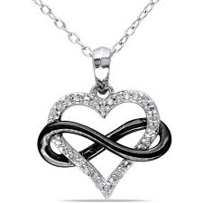 black heart necklace images Miabella diamond accent two tone sterling silver infinity heart jpeg