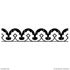 traditional design custom border stencils for painting walls ceilings modello