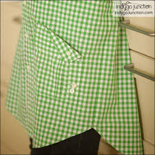 kitchen shirt tales apron sewing pattern from indygo junction
