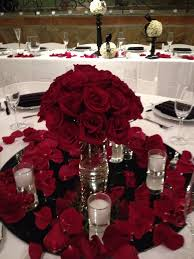 halloween wedding centerpiece ideas tall red rose wedding centerpieces beautiful red rose