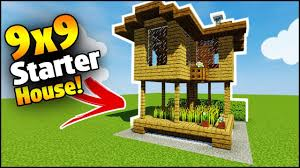 build a house minecraft 9x9 starter house tutorial how to build a house in