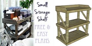 Wood Storage Shelves Plans Free by Remodelaholic Diy Small Open Shelf Building Plan