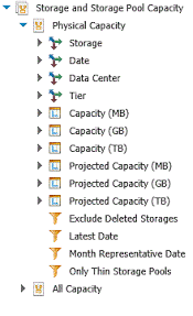 a sample report creating a sample report capacity utilization by data center and tier