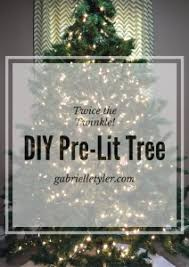 diy pre lit tree tutorial pre lit tree lighted trees