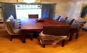 10 chair dining table set dining table with 10 leather upholstered chairs designs at home design