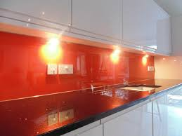 kitchen glass splashback orange kitchen u0026 bathroom