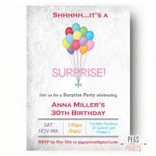 surprise birthday invitation from peg u0027s prints birthday