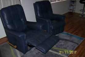 Jason Recliner Harvey Norman Leather Tub Chair And Ottoman In Good Condition Armchairs