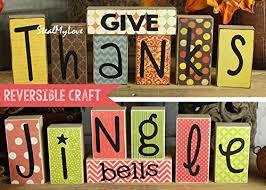 give thanks jingle bells diy unfinished wood n vinyl
