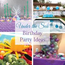 the sea party the sea birthday party ideas linentablecloth