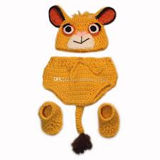 Crochet Newborn Halloween Costumes Novelty Newborn Lion Simba Costume Handmade Crochet Baby Boy
