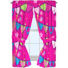shopkins kids bedroom curtains set of 2 walmart com