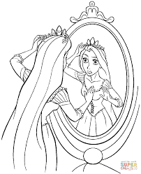 tangled coloring page free printable disney princess tangled