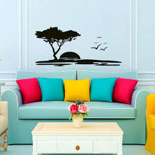 Amazon Wall Murals Wall Decals Landscape Sunset Flock Of Flying Birds Seagull Decal
