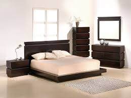 Flat Bed Frame Bedroom Attractive Japanese Varnished Wooden Flat Bed Frame