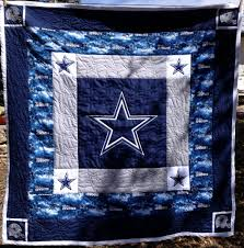 my newest grandson isaiah u0027s quilt with dallas cowboy theme