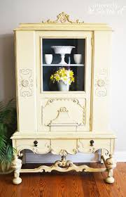 the yellow painted hutch sincerely sara d